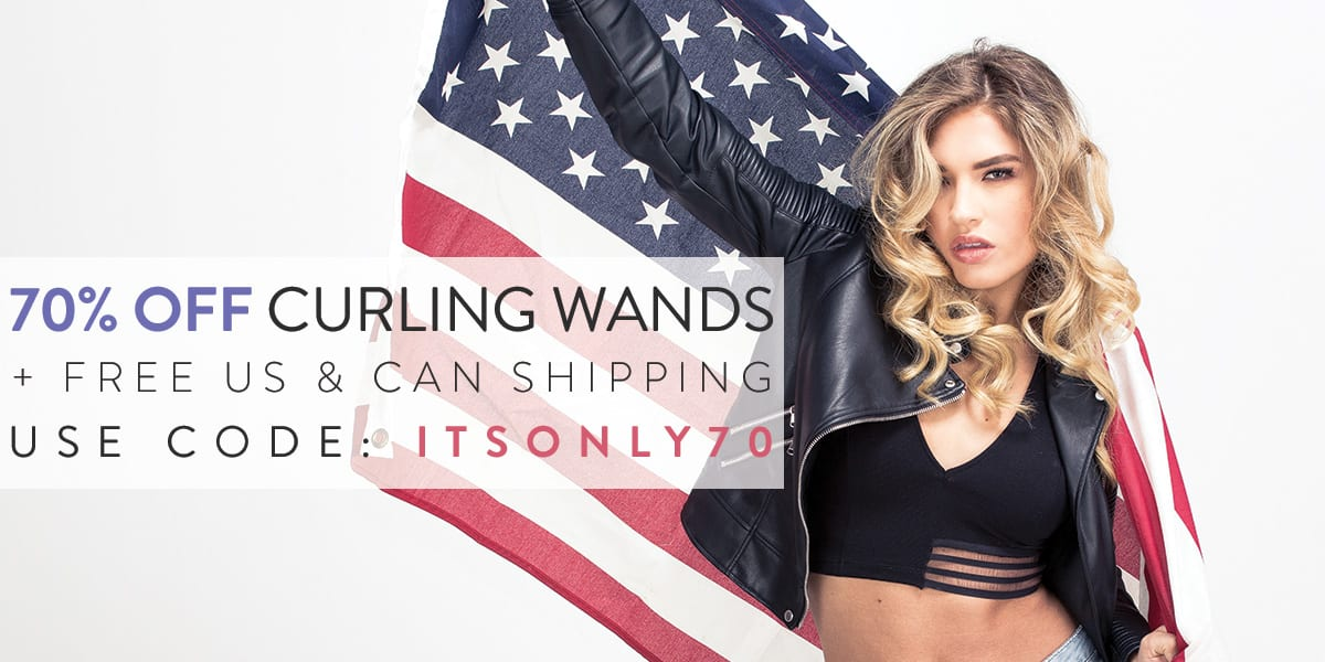 July 4th NuMe curling wand sale