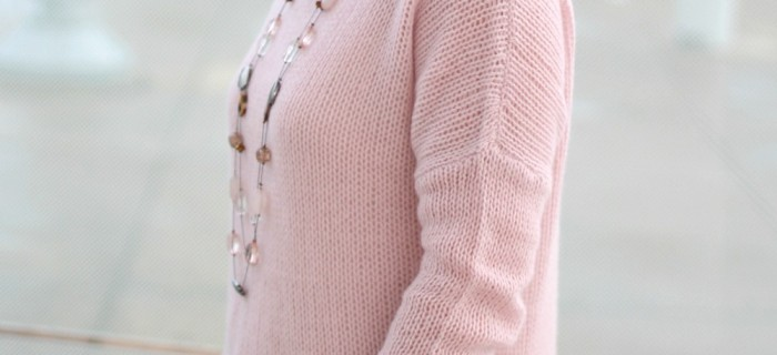 Cashmere Sweater Outfit for Early Fall