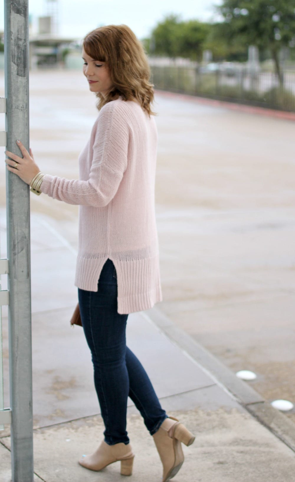 Cashmere Sweater Outfit for Early Fall | Mom Fabulous