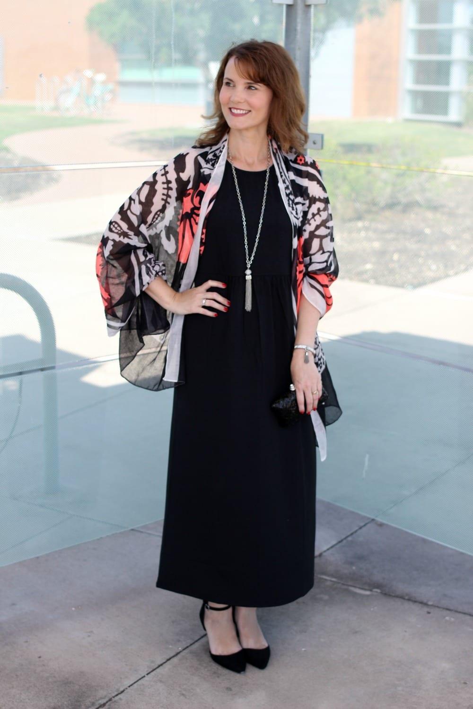 Perfect black maxi dress