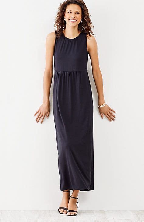 black maxi dress outfit 10