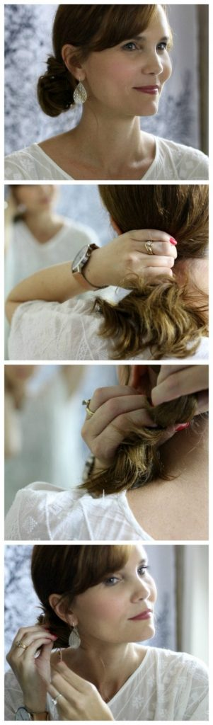 Quick hairstyle idea: How to do a side bun