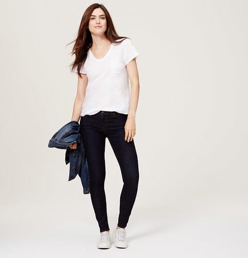 loft curvy skinny jeans