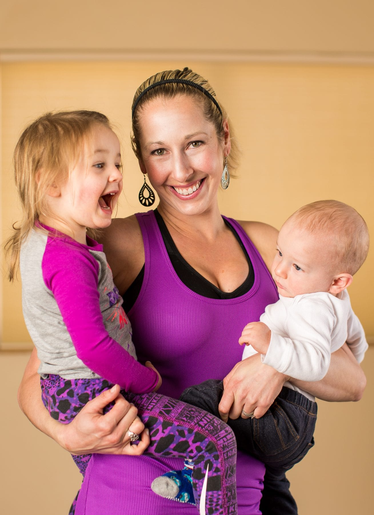 VFit Studio Owner Rachele with her kids