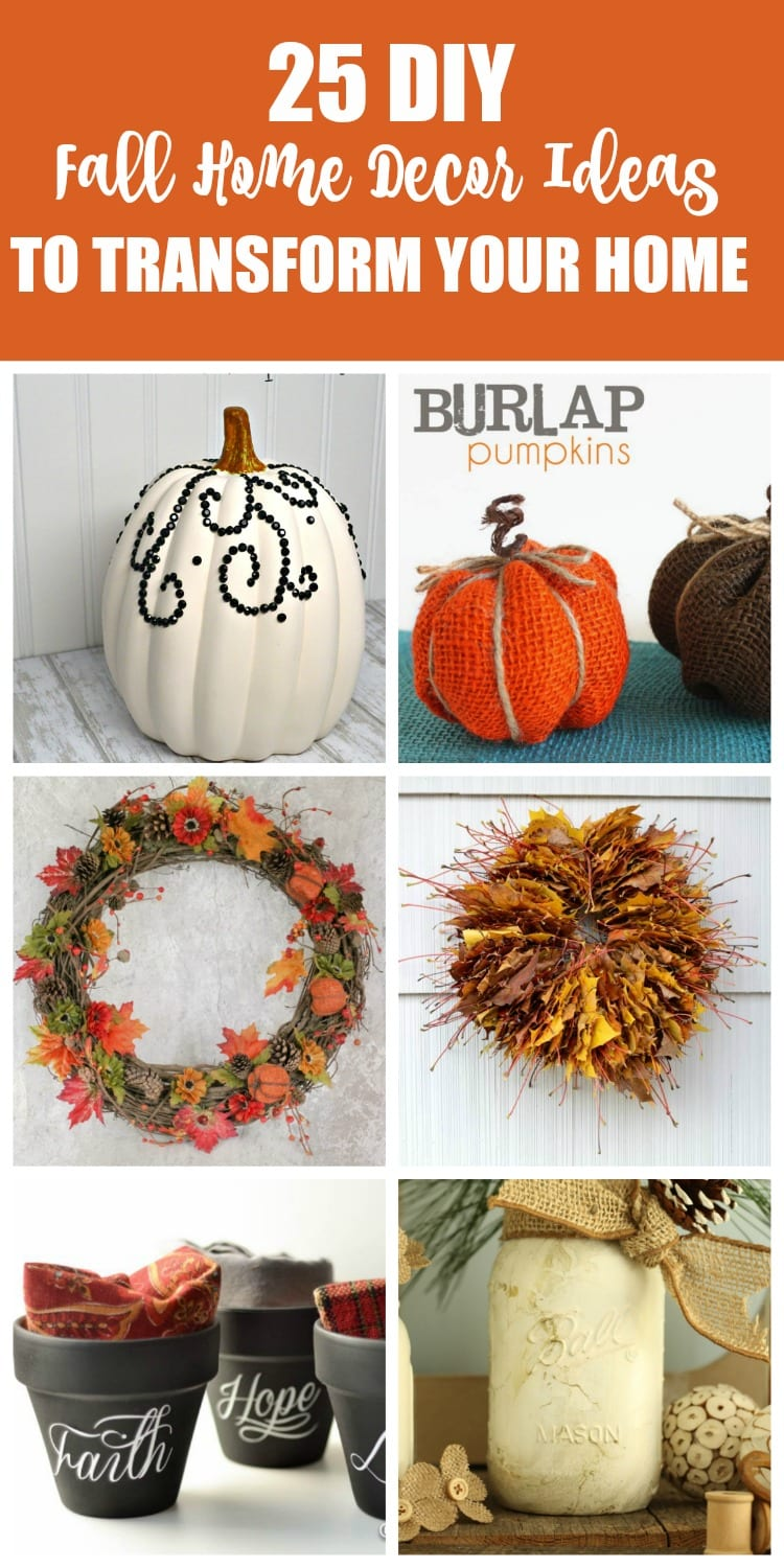 25 diy fall home decor ideas to transform your home mom Fall home decorating ideas diy
