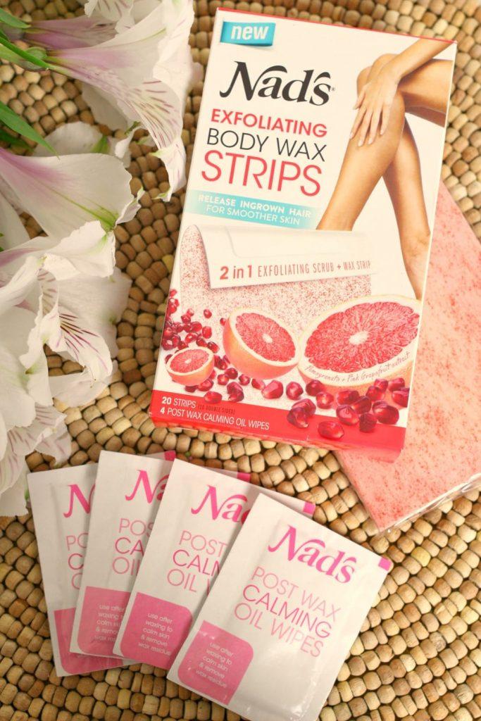Nad's Exfoliating Body Wax Strips