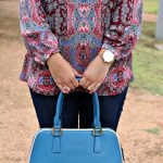 A Paisley Print Blouse for Fall