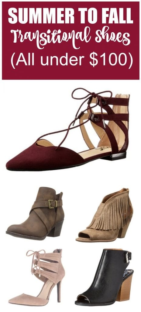 The summer to fall transition can be tricky when it comes to getting dressed. If you're like me, you really want to start wearing those fall trends but it's still quite hot outside. One way to beat the heat and wear those fall finds is with a great pair of summer to fall transitional shoes.
