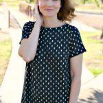 Wrinkle Free Ikat Knit Dress Outfit