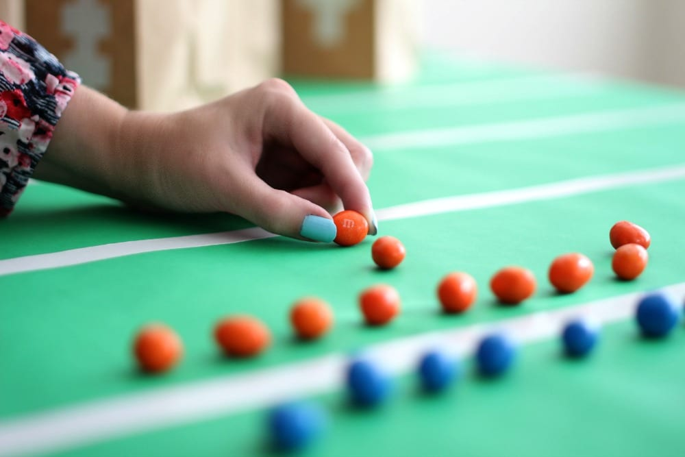 Football party ideas - snacks, table decor and party bags.