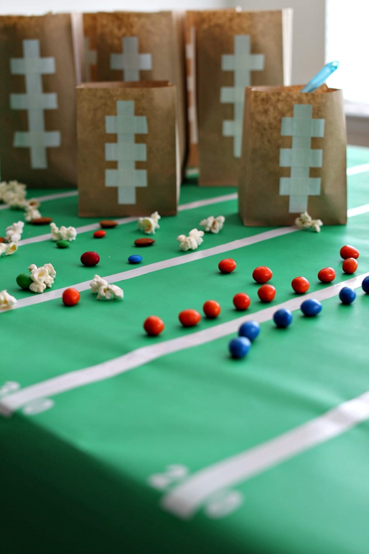 Easy DIY Football Party Bags Amp Table Decor