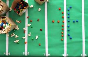Easy DIYFootball Party Bags & Table Décor