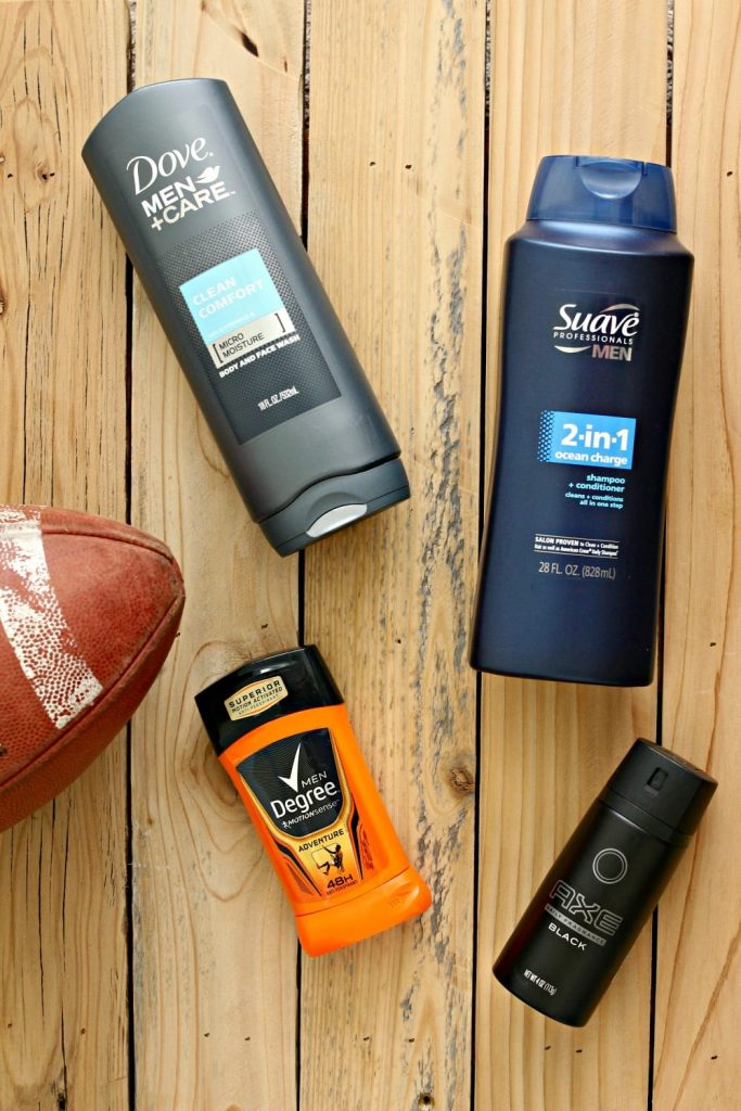 Men's Grooming products fit for football season.