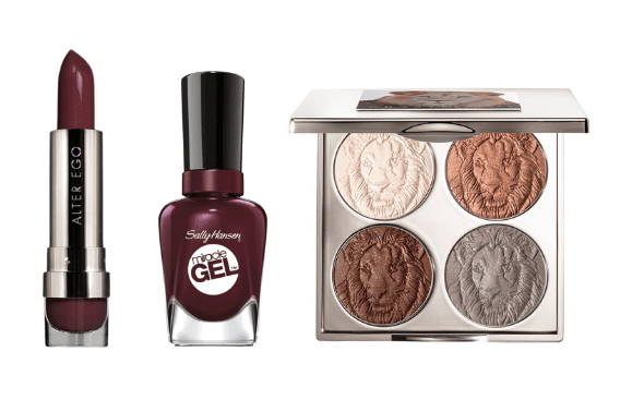 Fall makeup: burgundy lips and nails are a great way to welcome in the season.