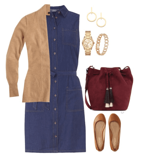 Fall outfit idea: Don't put away those summer dresses just yet. Layer them with your favorite blazer, cardigan or leather jacket for another season of wear.