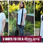 3 Ways to Tie a Skinny Scarf