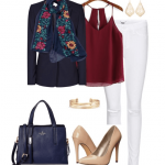 The Perfect Fall Color Combo: Navy + Burgundy
