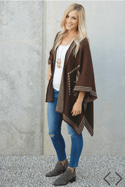 Poncho Outfit ideas for fall.
