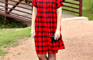 Holiday Party Perfect: The Buffalo Plaid Pleated Dress