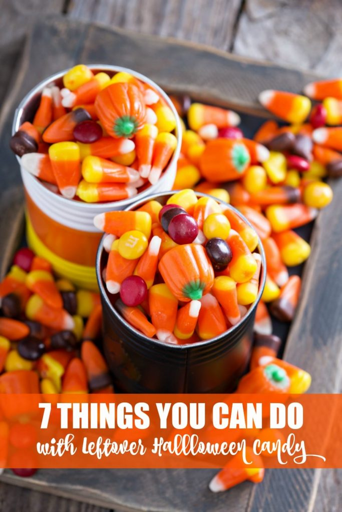 It's that time of year again! You dress your kiddos up in princess or pirate or ghost costumes, search the neighborhood for all things sugary and sweet, and they come home with more candy than they could ever hope to eat. So instead of having tummy aches and sick kids, here's a few things you can do with the leftover Halloween candy.