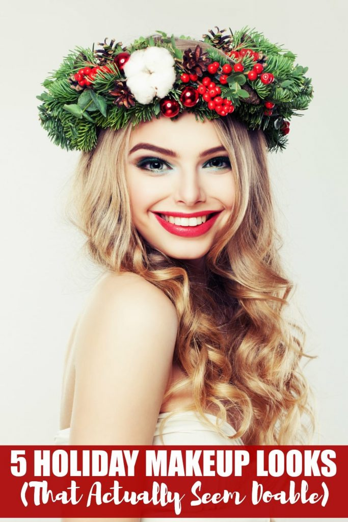 If you think glitter, glitz and glam are great for the Christmas tree, but not so much for your makeup, you might just change your mind when you have a look at these five Holiday makeup looks. They actually seem quite doable!