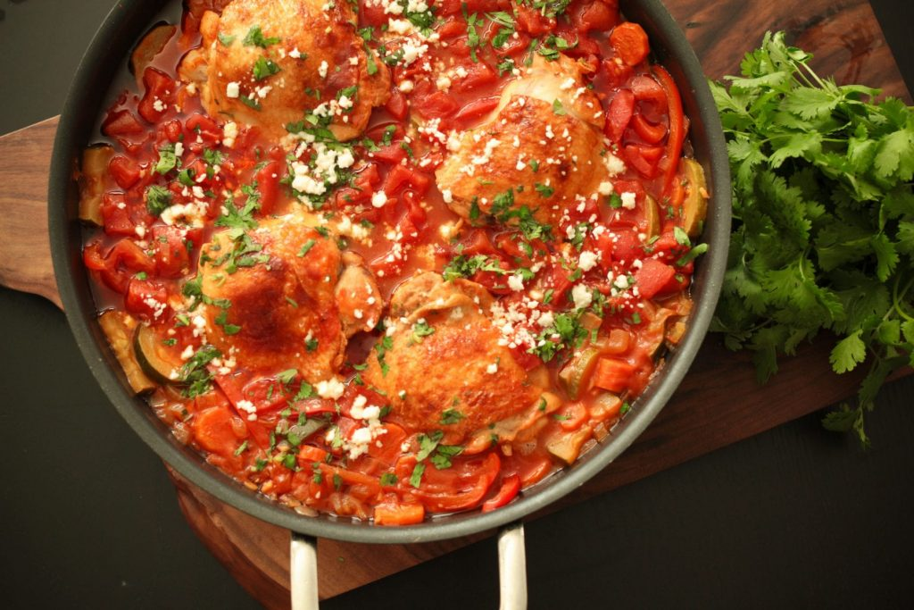 One Pot Stewed Chicken and Vegetables