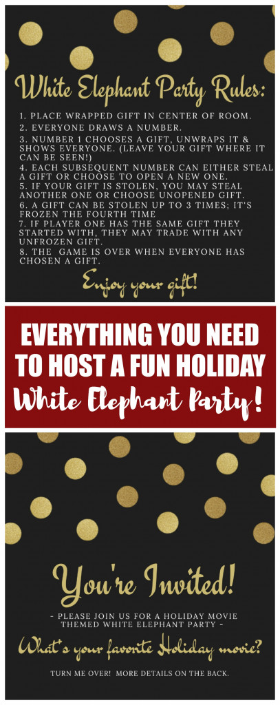 Holiday Movie Themed White Elephant Party Food D 233 Cor