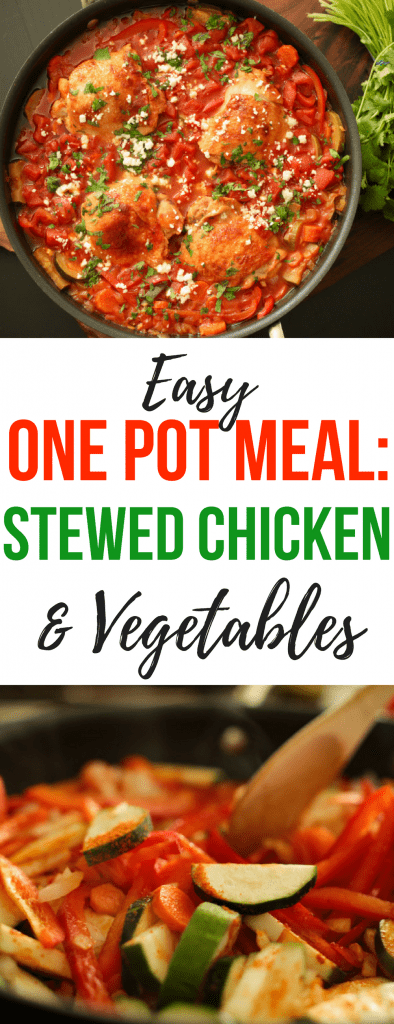 Easy one pot meal: stewed chicken and vegetables