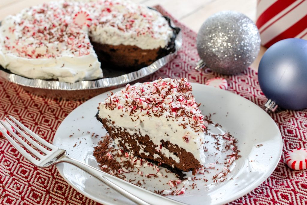 A decadent chocolate pie recipe perfect for the chocolate lover in your life. The peppermint whipped cream makes it the ultimate pie for the Holidays.