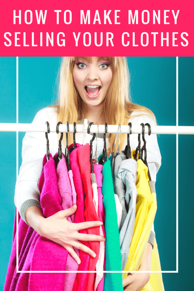 How to make money selling your clothes: You can make money just from cleaning out your closet. Here's how! to make some extra cash! #makemoneysellingclothes #extracash #makemoneyfromcloset