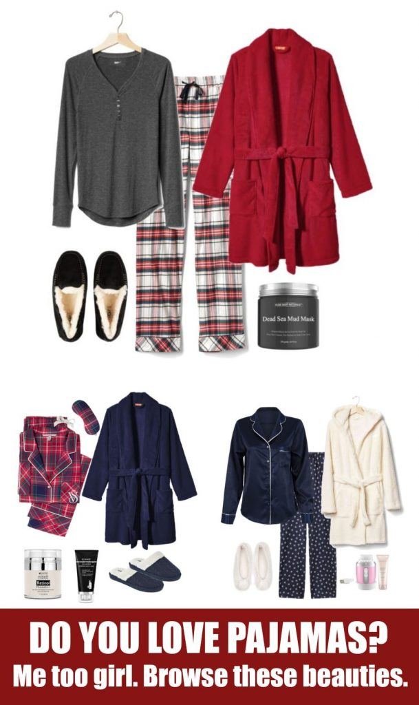 If you love to curl up on the couch or in your bed at the end of the night in your winter pajamas, then grab a cup of your favorite drink, because you're going to love scrolling through all of these choices. From plaid flannel pj's and a little silk to a sherpa robe that has your name written all over it, it's time to get cozy.