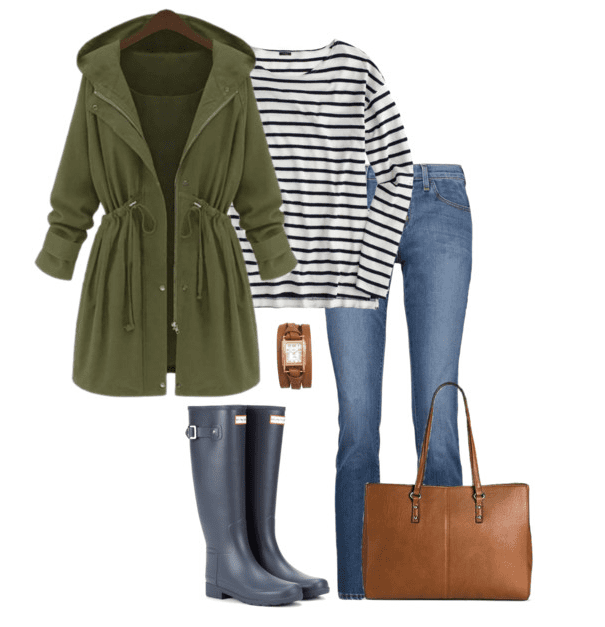 Blue Hunter Boots Outfit: No matter if it's raining or snowing, these Hunter boot outfit ideas will keep you warm, dry and stylish.