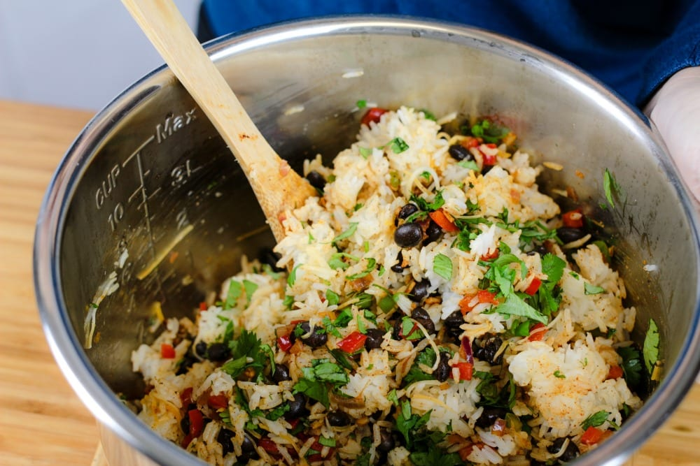 This easy Mexican rice recipe comes together quickly and makes for one beautiful dish. This has become our go-to recipe for a side dish or as a filler for Taco Tuesdays.