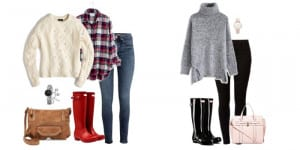 A Rainbow of Hunter Boots Outfit Ideas