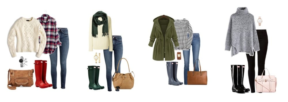 No matter if it's raining or snowing, these Hunter boot outfit ideas will keep you warm, dry and stylish.