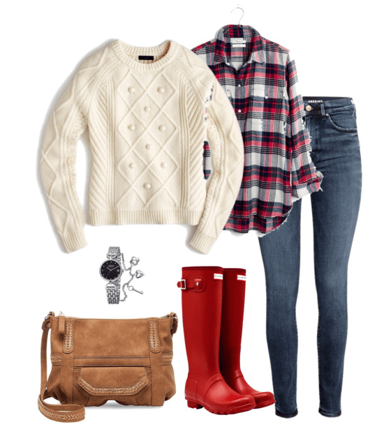 Red Hunter Boots Outfit: No matter if it's raining or snowing, these Hunter boot outfit ideas will keep you warm, dry and stylish.