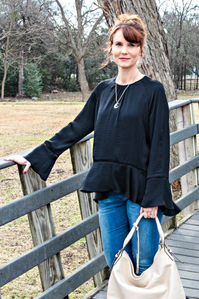 This bell sleeve top might just become one of my new favorite pieces when it's time to leave winter behind and head into spring.