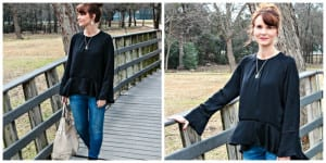 A Bell Sleeve Top and Combat Boots