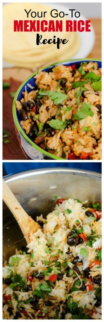 An easy Mexican Rice Recipe in the Instant Pot