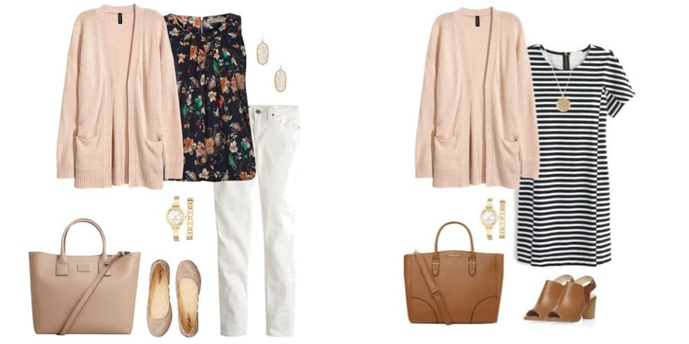 These four cardigan outfit ideas will help you pull together something to wear this spring in a jiffy!