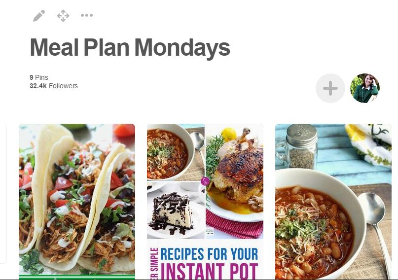 Pinterest Meal Planning