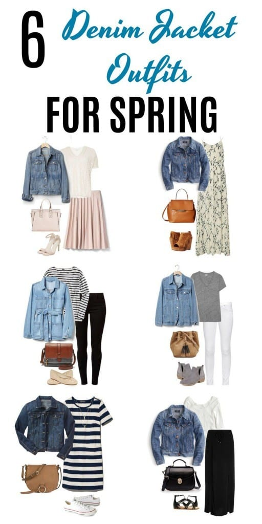 6 denim jacket outfits for spring