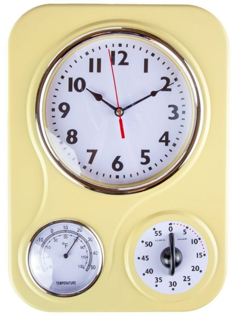 Retro Kitchen Accessories - Retro Kitchen Clock With Temperature and Timer