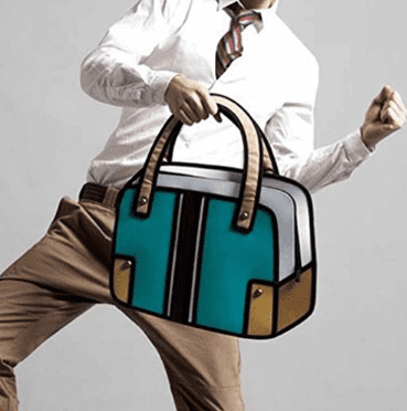 2-d bags that will mess with your mind. A great gift idea for graduates!