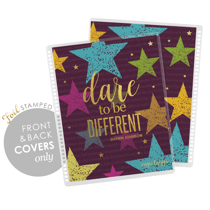 "Shawn Johnson X EC ""be different"" gold metallic - covers"