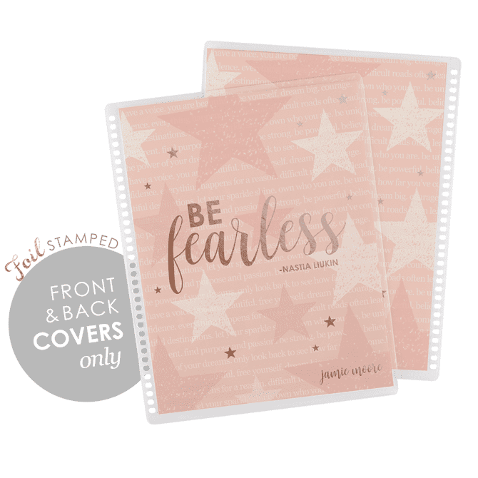 "Nastia Liukin X EC ""be fearless"" rose gold metallic - covers"
