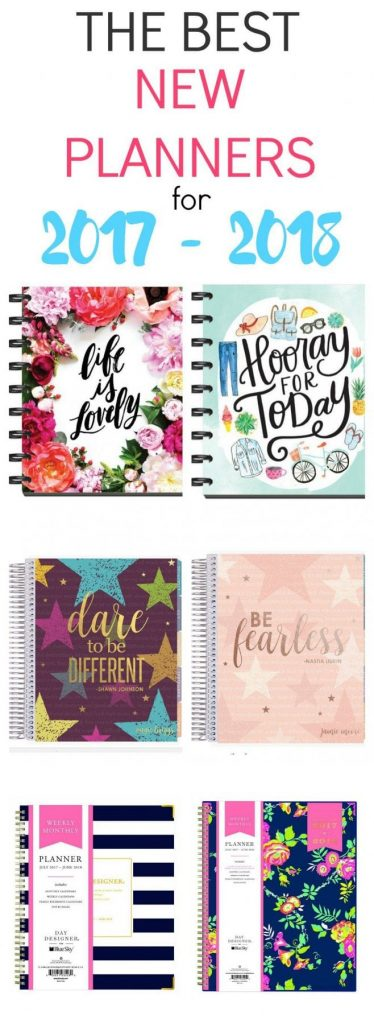 These are the best new planners for 2017 - 2018! From The Happy Planner, Erin Condren, Day Designer and more.