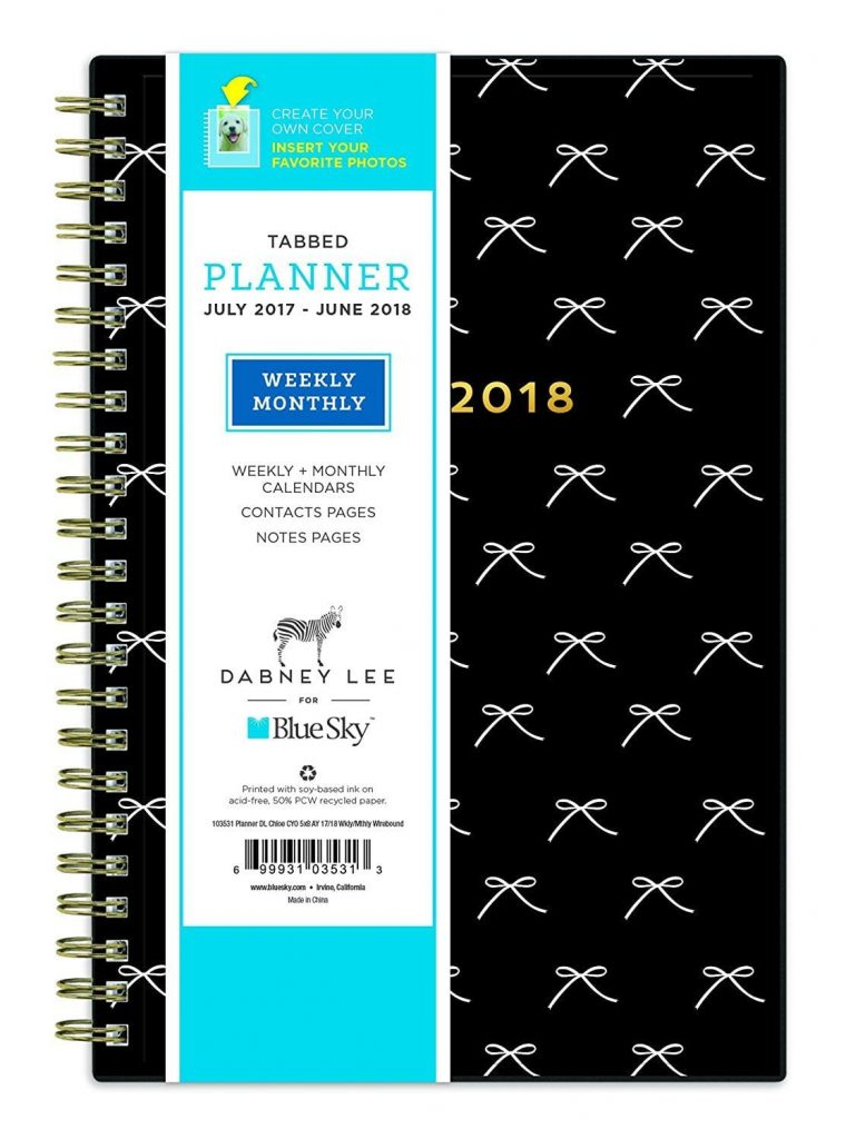 "Best new planners for 2017 - 2018: Dabney Lee for Blue Sky 2017-2018 Academic Year Weekly & Monthly Planner, Wire-O Binding, 5"" x 8"", Chloe"