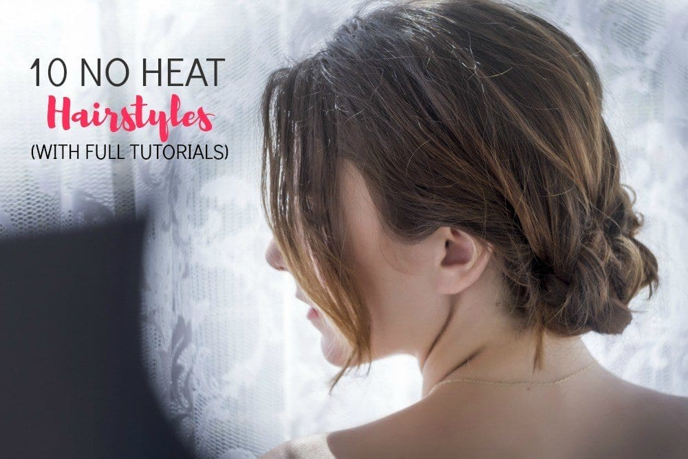 These 10 no heat hairstyles are exactly what your hair has been begging for!  Whether you're trying to grow your hair out, bring some life to your locks or shave a few minutes off your morning routine, having a few no heat hairstyles under your belt is a good idea.