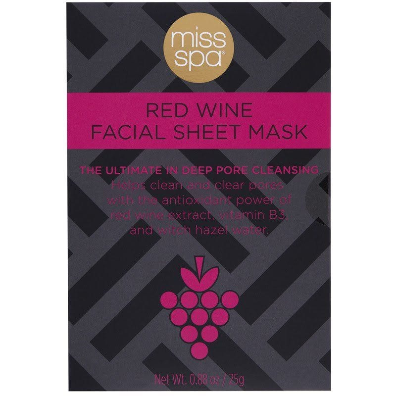 Red wine facial sheet masks at Ulta